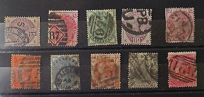 A collection of High Value, Great Britain stamps of Queen Victoria, Used.#25.
