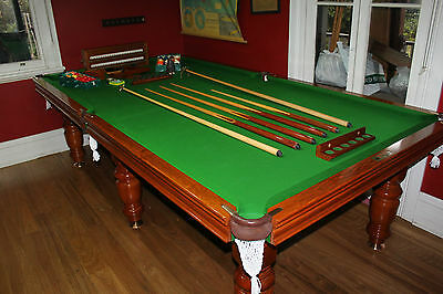 "9' x 4'6"" HEIRON & SMITH BILLIARDS AUS MADE POOL SNOOKER TABLE NEW ENGLISH CLOTH"