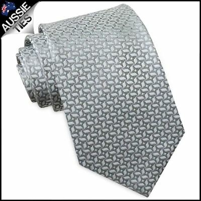 Silver with Pinwheel Texture Mens Tie