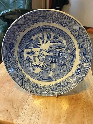 Warranted Staffordshire Blue China Plate.