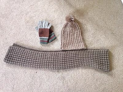 Men's Hat Gloves And Scarf Set Wool