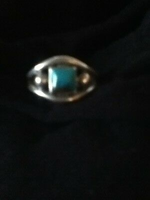 Vintage Navajo Turquoise Silver Ring