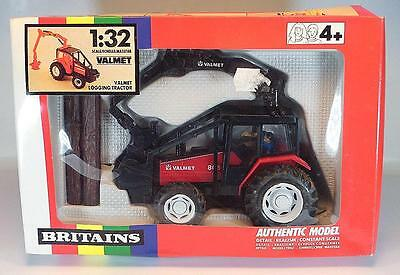 Britains 1/32 Nr.9516 Farm Valmet 805 Holztransport Traktor Trecker in OVP #227