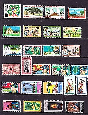 Niue stamps - 26 MUH, MH & Used