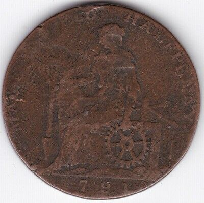 1791 Copper Works Half-Penny Token***Collectors***