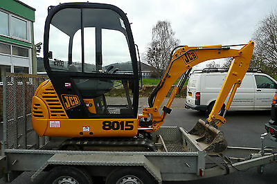 Jcb 8015 / 8017 /  Mini Digger Complete Decal Set With Safty Warning