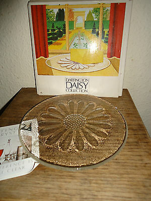 DARTINGTON GLASS BUTTER PLATE DAISY COLLECTION BY FRANK THROWER 7.5 ins