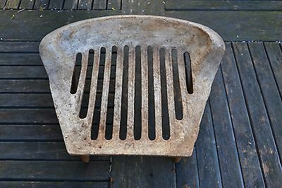 Old Vintage Cast Iron Fire Grate