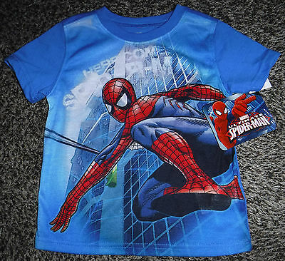 NWT Toddler Boys Short Sleeve Spider-Man Shirt Size 2T