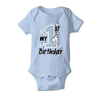 "Child Bodysuit - ""My First Birthday"" Bodysuit Baby Boy 1st birthday Outfit"