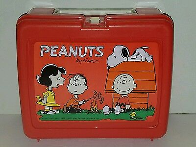 Vintage Thermos 1965 PEANUTS Lunchbox Snoopy Charlie Brown Schulz USA
