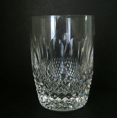 """Waterford Crystal Colleen 10 Oz Flat Tumbler 4 3/8"""" High Gothic Script To Base"""