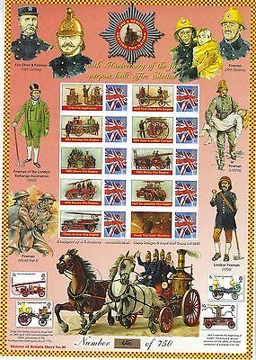 Gb Smiler History Of Britain 40 300Th Anniversary First Fire Station.