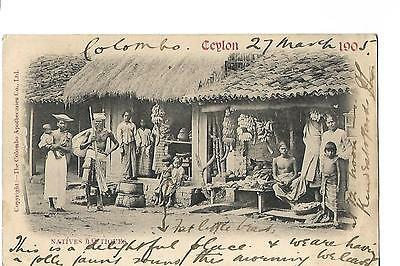 Ceylon. Natives Bautiques. Early Undivided Back. Posted in 1905. Ethnic.