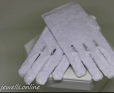 White Lace Gloves First Holy Communion Confirmation Girls Accessories