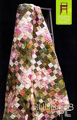 RHUBARB PIE QUILT QUILTING PATTERN, from Madison Cottage Design, *NEW*