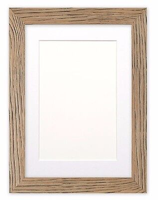 Driftwood Effect Flat Picture Frame Photo Frame, Poster Frame With Bespoke Mount