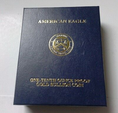 5 dollars or USA 1/10 d'once American Gold Eagle 1/10 oz gold 2013 PROOF / BOX