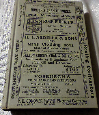 Original 1955 Gloversville & Johnstown Ny  City & Business Directory 634 Pages