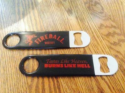 NEW! (2) Fireball Whisky Logo Bottle Openers - Set of Two - Barkey Whiskey