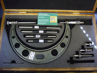 """VINTAGE 'MITUTOYO' OUTSIDE MICROMETER No: 104 - 150 (4""""- 8"""") + CASE   1303"""