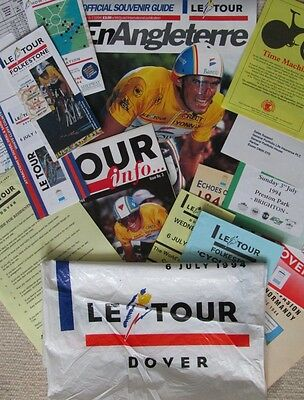 Collection of Vintage 1994 Tour de France England Cycling Ephemera