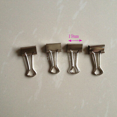 4pcs Silver Metal Binder Clip Paper Clips For Office School 19mm