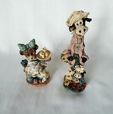 Collector Bears Lot of 2 Boyds Bears & Friends #2852 and Bear Figurine