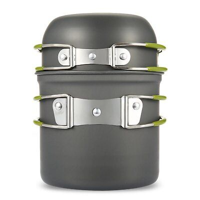 Camping Outdoor Backpacking Cooking Pot Cookware Hiking Picnic Cook Bowl Set