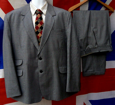 "1940's wartime style vintage spiv suit 44"" chest, 40"" waist"