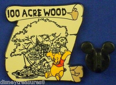 Disney Pin 100 Acre Wood Winnie the Pooh on Map 100 Years of Dream #79 # 8350