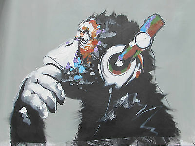 abstract musical monkey large oil painting canvas original modern contemporary