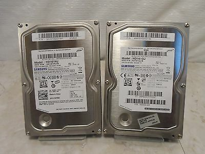 "Lot of 2 Samsung 3.5"" 160GB 7200RPM Sata Hard Drive HD161HJ HD161GJ"