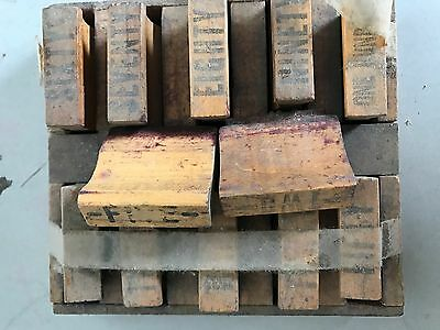 """Antique Post Office Wood Hand Stamps """"twenty, Fifty...."""""""