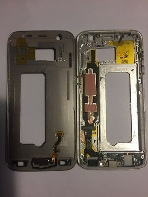 chassis Central Pour samsung s7 sm-g930f Gris Silver .