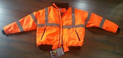 Majestic Glove 75-1302/X3 Bomber Jacket, Zip Out Fleece Class 3, 3X-Large,Orange