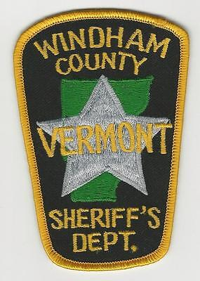 Vintage Windham County, Vermont Sheriff Patch Police Vt