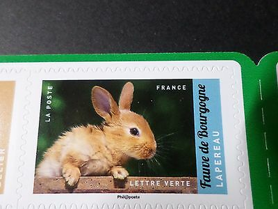 FRANCE 2017, timbre AUTOCOLLANT ANIMAUX ELEVAGE LAPIN RABBIT neuf**, VF MNH