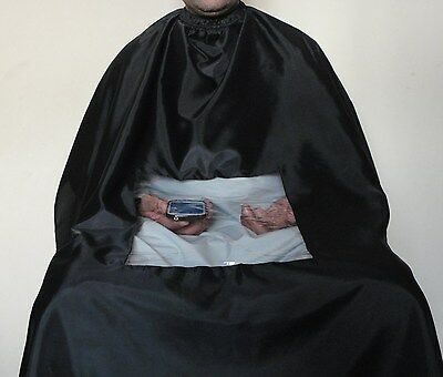 Barbers Hair Cutting Cape/ Apron Hairdressing With Viewing Window