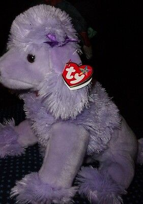 TY Beanie Baby - DEMURE the Purple Poodle) buddy 14 inches