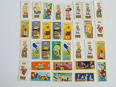 32 Simpson Chewing Gum Stickers Wrappers 1990s
