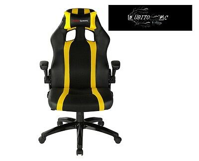 Mars Gaming Gaming Chair 2 Sedia Gaming  colorazione Deep Black and Yellow MGC2B