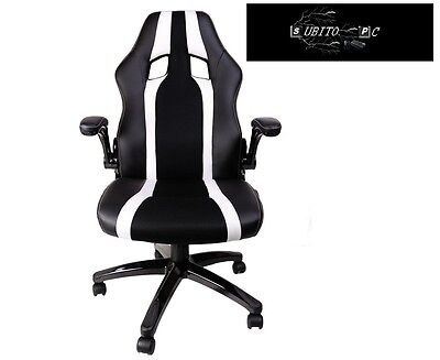 Mars Gaming Gaming Chair 2 Sedia Gaming colorazione Deep Black and White MGC2BW