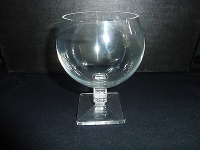 """Lalique Crystal Antique 4 3/4"""" tall Signed Argos Brandy Glass #9820"""