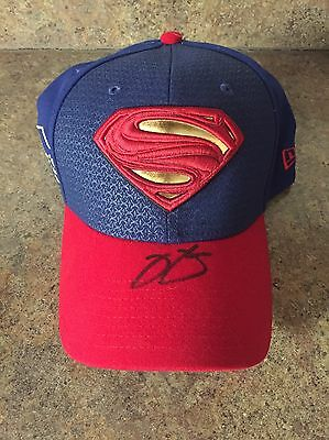 Jimmie Johnson AUTOGRAPHED SIGNED Superman Hat Brand New Very Hard 2 Find Lowe's