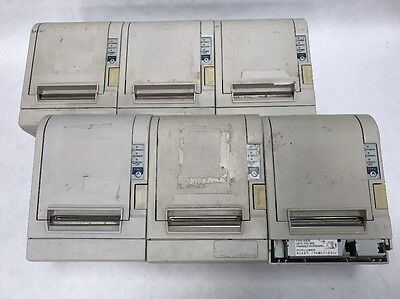 LOT OF 6 Epson TM-T88III Thermal Receipt Printer NO Interface AS IS for Parts
