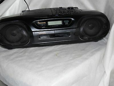 Panasonic Rx-Dt55 Cd, 3 Band Radio,double Cassette Recorder Boombox