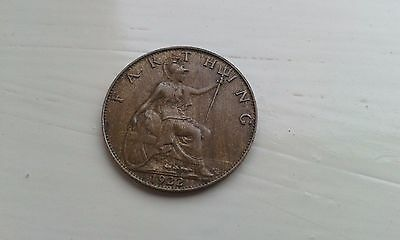 1922 George V Farthing - Very Good Grade - Collectable.