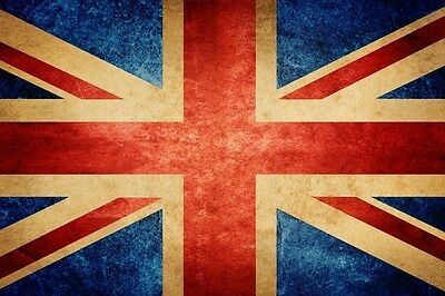 Union Jack Flag 5X3 Ft Packed Eyelets For Hanging Team Gb Vintage Look
