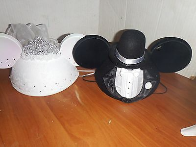 wdw bride and groom  mouse ears hat adult
